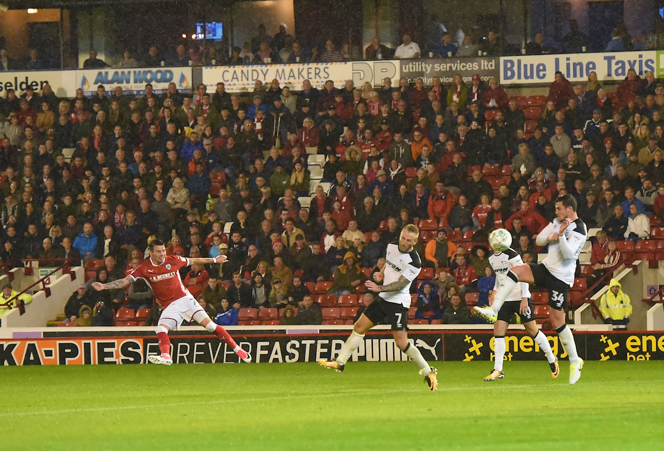 Adam Hammill bends in the winner against Derby this season