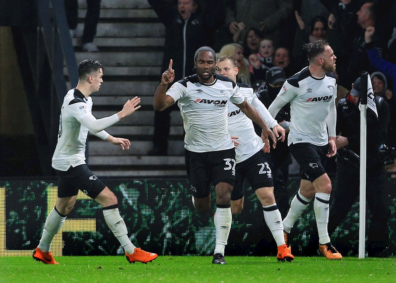 Cameron Jerome celebrates