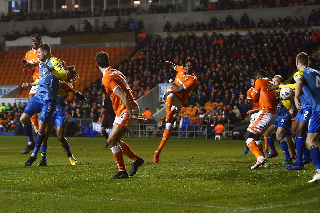 Blackpool edged past Solihull in midweek