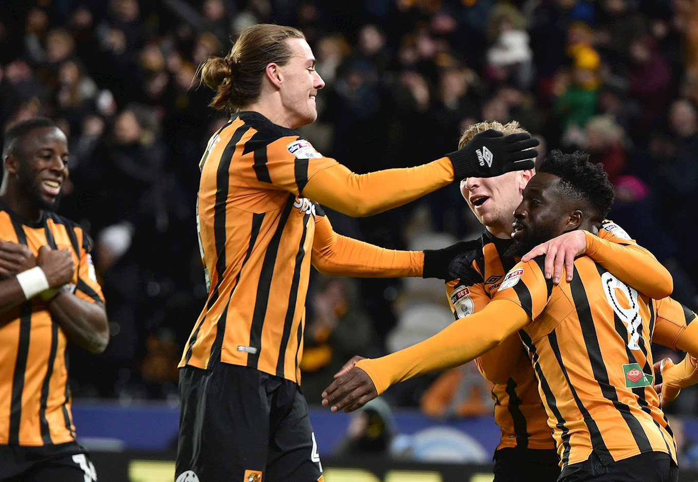 Hull City celebrate last season