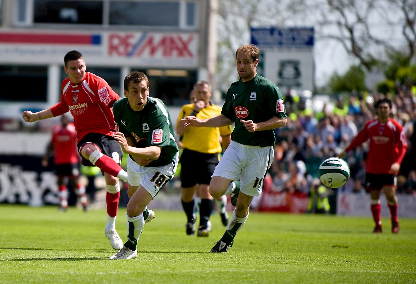 Adam Hammill scores against Plymouth in 2009