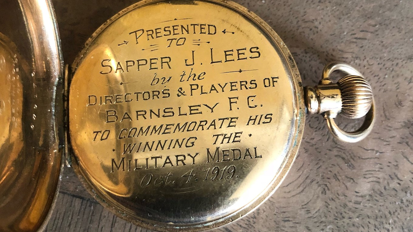 The pocket watch presented to Geoff's father after serving in the First World War