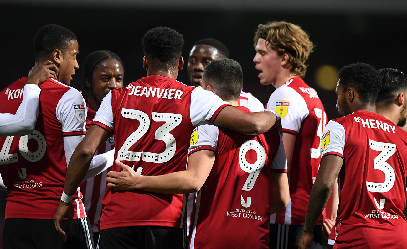 Brentford players