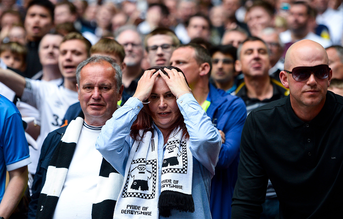 Derby fans mourn another playoff failure