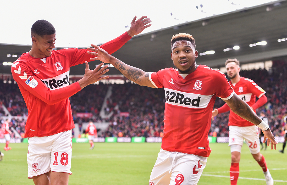 Boro players celebrate