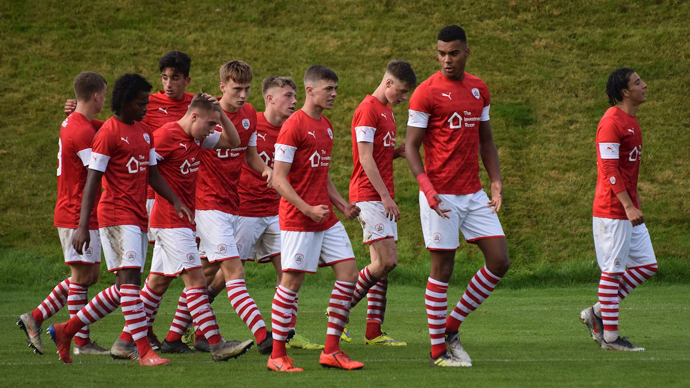 The team celebrate during a hard-fought win against Crewe Alexandra