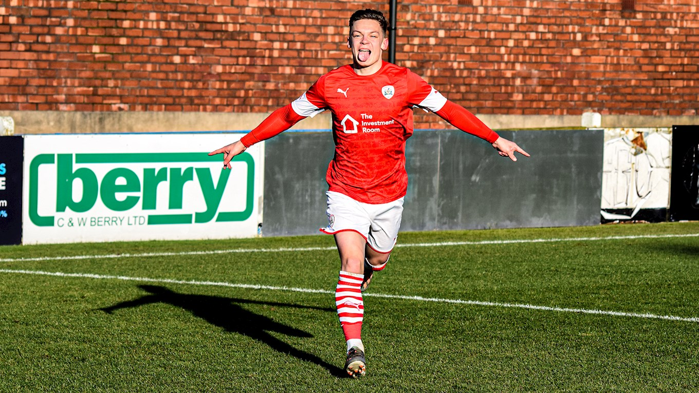 Pure joy for Tommy Willard after scoring against Bolton Wanderers